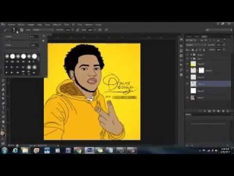 How to make a cartoon effect Tutorial Adobe Photoshop CS6