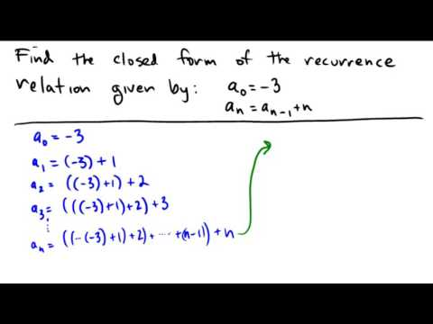 Finding a solution to a recurrence relation
