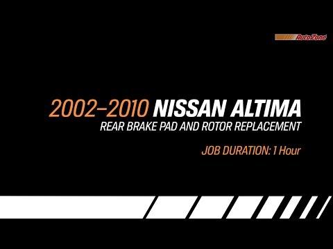 Nissan Altima Rear Brake Pads & Rotors Replacement - 2002-2010 - Make Model Series