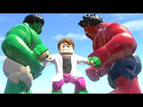 HULK VS CURT CONNORS(TRANSFORMATION) VS RED HULK - LEGO MARVEL SUPER HEROES GAME