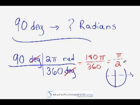 Converting between Degrees and Radians - Trig / Geometry Tip
