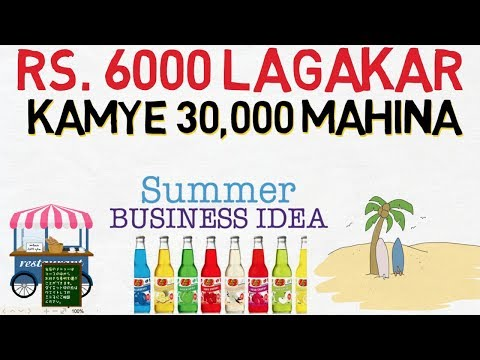 BUSINESS IDEAS for Summers in India | Soft Drink Business | Low investment Business Ideas in Hindi