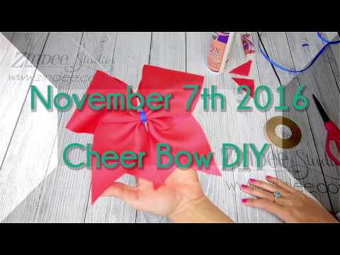 How to Make a Cheer Bow!  EASIEST way and no sewing!