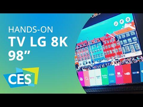 LG exibe TV 8K de 98 polegadas [Hands-on | CES 2016]