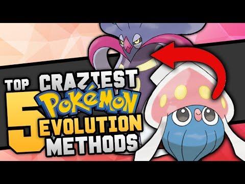 Top 5 Craziest Ways Pokémon Evolve