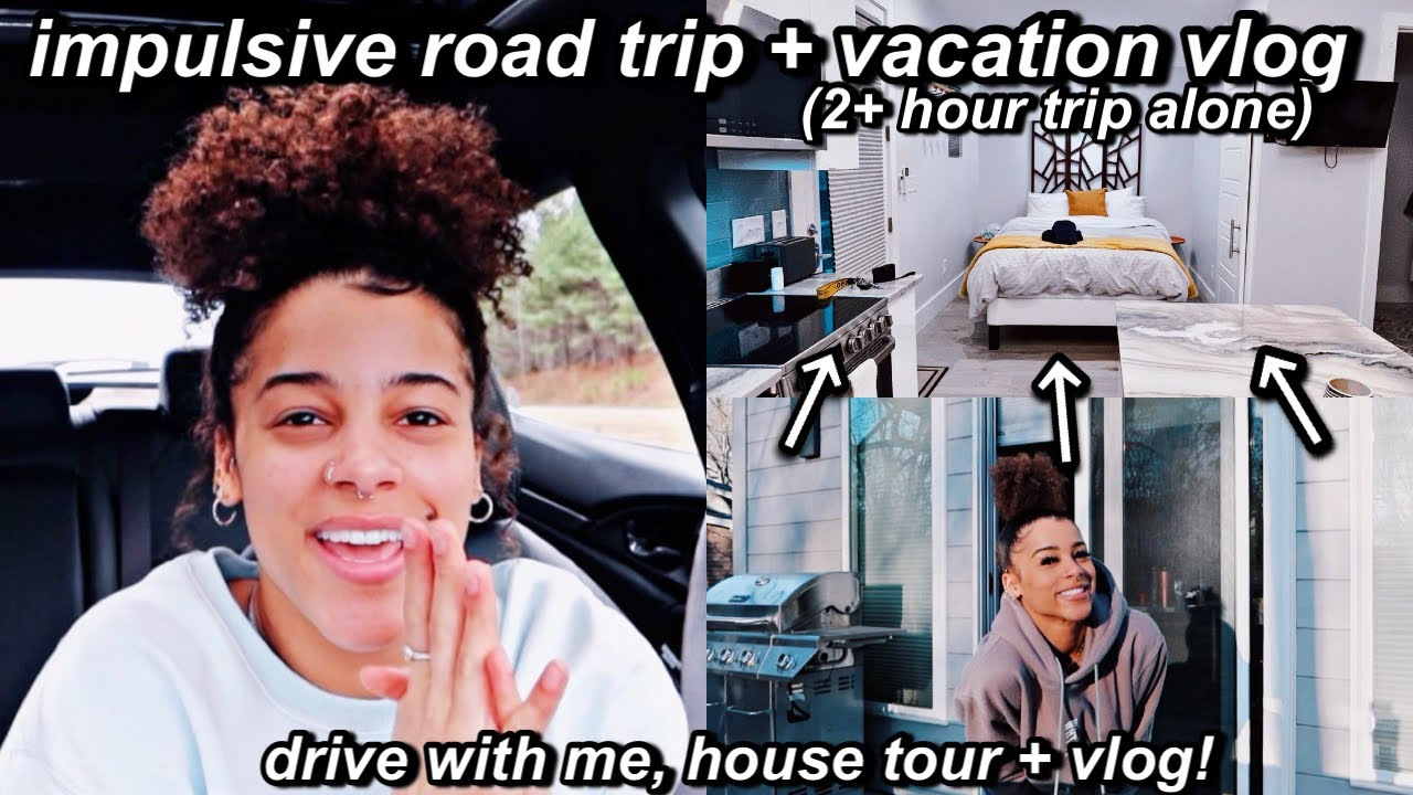 impulsively going on a roadtrip alone + vacay vlog! (airbnb tour) | Azlia Williams