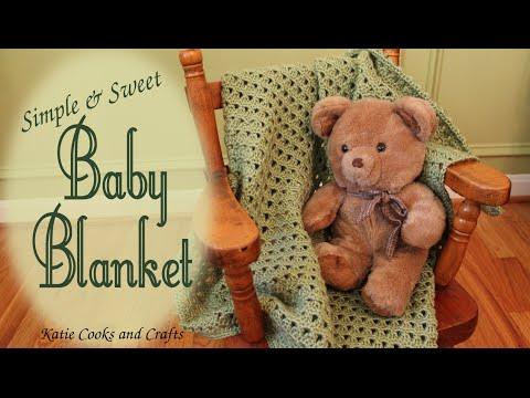 Crochet Baby Blanket Tutorial - Simple and Sweet Afghan