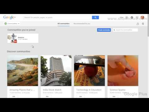 Google+ - How To Join An Event Based Community