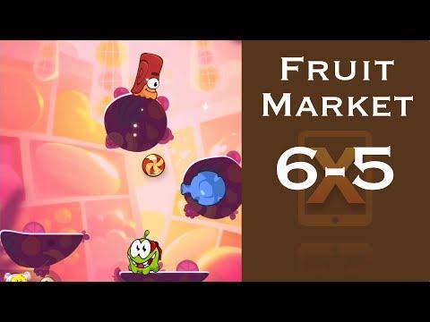Cut the Rope 2 Walkthrough - Fruit Market 6-5 - 3 Stars + Medal [HD]