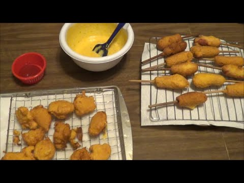 Making Corn Dogs, Fritters and Dip