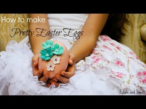 How to make pretty decorated easter eggs