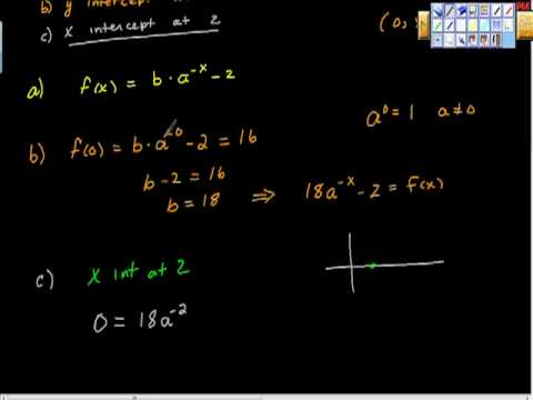 Finding the Equation of an Exponential Function