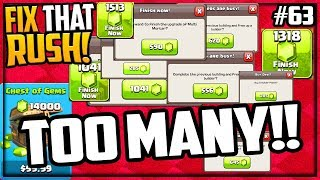 SO MANY GEMS! Clash of Clans Fix That Rush Episode 63