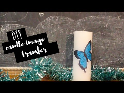 DIY Gift | Easy Custom Candle Art (Image Transfer)