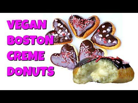 Vegan Boston Creme Donuts || Gretchen's Vegan Bakery