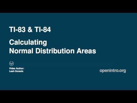 Normal Dist Tail Areas on TI-83 & TI-84 Plus