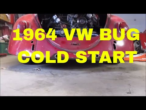 Cold Start 1964 vw bug and front end stuff
