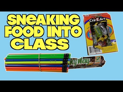 5 Ways To Eat Food In Class Without Getting Caught -SCHOOL LIFE HACKS (How To Sneak Snacks In Class)