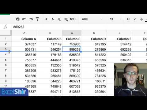 Google Sheets Tutorial: How to Resize Columns and Rows