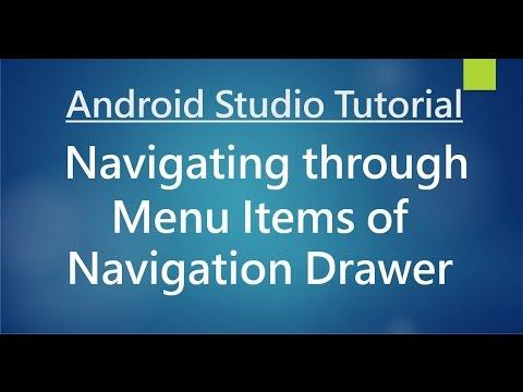 Android Studio Tutorial - 75 - Navigating between Menu Items of Navigation Drawer