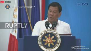 Myanmar: Duterte acts out call with Trump and calls Obama
