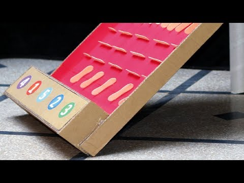 How to Make Marble Run using Cardboard & Ice Cream Sticks