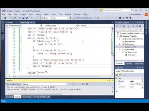 Menu Driven Loop C++