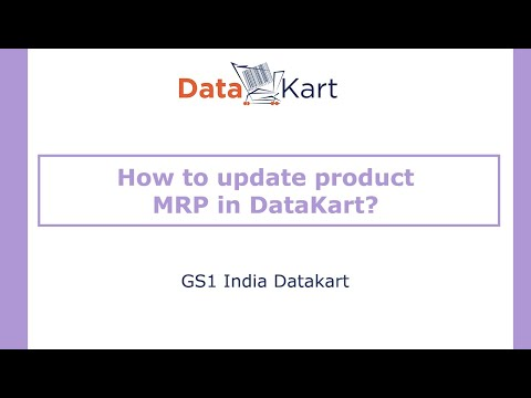How to update product MRP in DataKart?