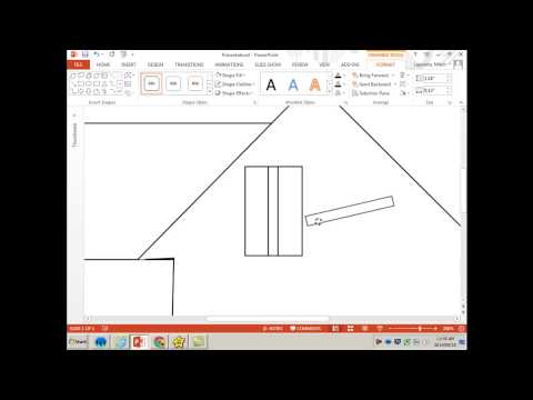 How to draw a house in MS Word or PowerPoint-Shapes and Layers