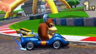 Mario Kart 7 Time Trial: retro Maple Treeway (2'24