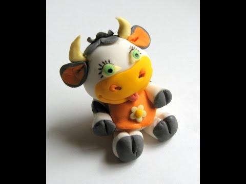 Fondant cow tutorial - how to do a cow