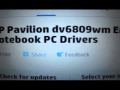 Hp Pavilion DV6 Installing graphics card driver for windows 8.1