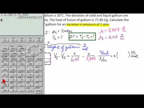 Calculate Change in Melting Point of Gallium