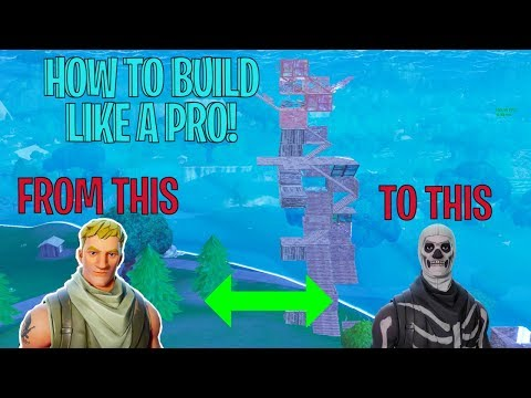HOW TO BUILD LIKE A PRO IN FORTNITE BATTLE ROYALE!