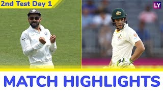 IND vs AUS 2nd Test 2018 Day 1 Highlights: Bowlers Help India Bounce Back
