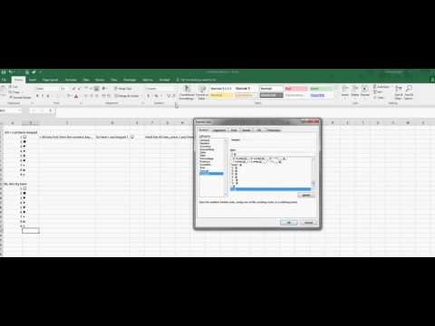Excel Tip #6   creating custom bullets