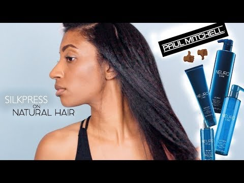How to Silk Press Natural Hair with Paul Mitchell Neuro Products - No Heat Damage!
