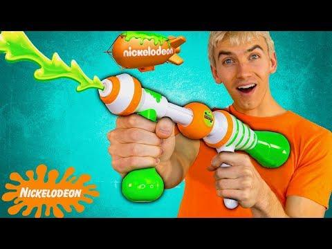 NICKELODEON SLIME BLASTING NERF GUN!! (SUPER RARE)