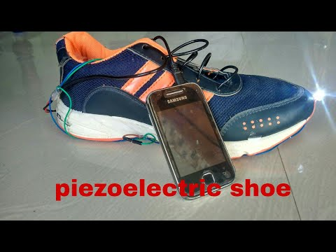 How To Make a Piezoelectric battery charging shoe/go Creative channel
