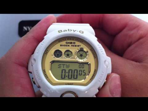 White Casio Baby-G Large Digital Sports Watch BG6901-7