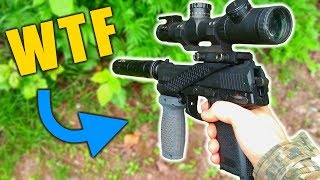 Airsoft Cheaters HATE this sniper! (Yes it is a sniper)