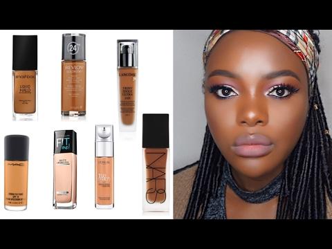 BEST Foundations For Dark Skin | Top 6 Liquid Foundations (WOC)