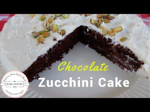 How to Make Zucchini Chocolate Cake with White Chocolate Cream Cheese Frosting