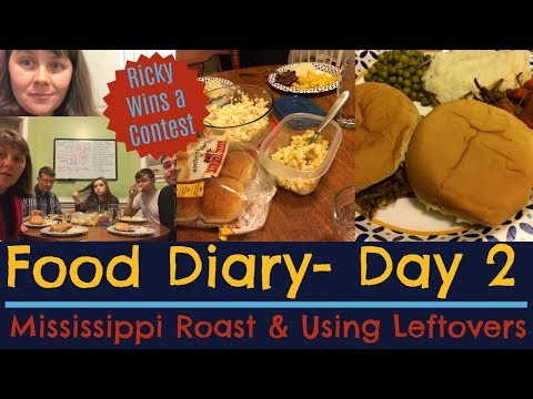 FOOD DIARY- APRIL 2018- Day 2- Mississippi Roast & Leftovers