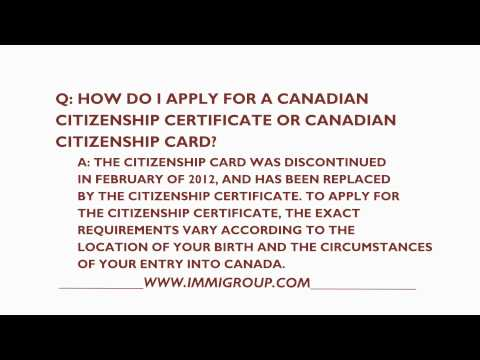 How To Apply For A Canadian Citizenship Card Or Certificate