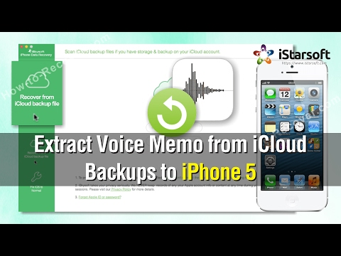 How to Extract Voice Memos from iCloud Backups to iPhone 5