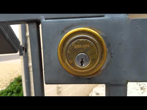 Double-sided Schlage Deadbolt Removal