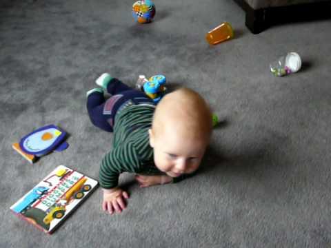 Baby Harris Commando Crawling