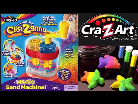 The Cra-Z-Sand Magic Sand Machine Make your own sand DIY  - Unboxing!