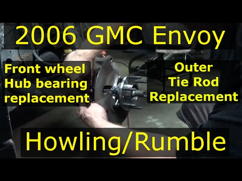 Front wheel Hub bearing replacement 2002-09 GMC Envoy + outer Tie rod